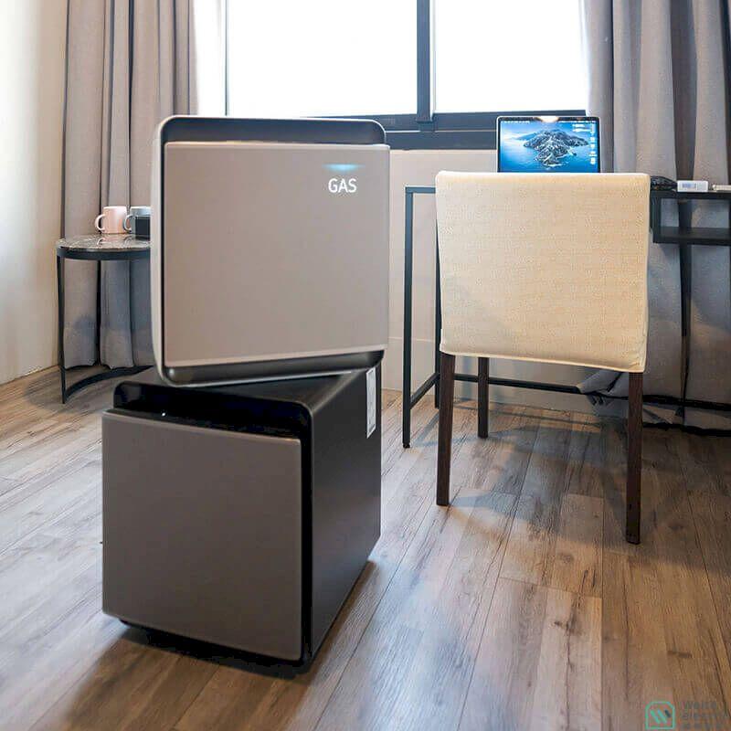 Samsung Cube無風智慧清淨機開箱!無風低噪音,迷你空氣清淨機質感推薦!
