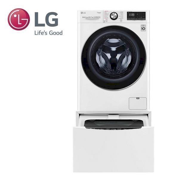 LG 10.5+2公斤 蒸洗脫烘TWINWash雙能洗洗衣機 (WD-S105VDW+WT-D200HW)