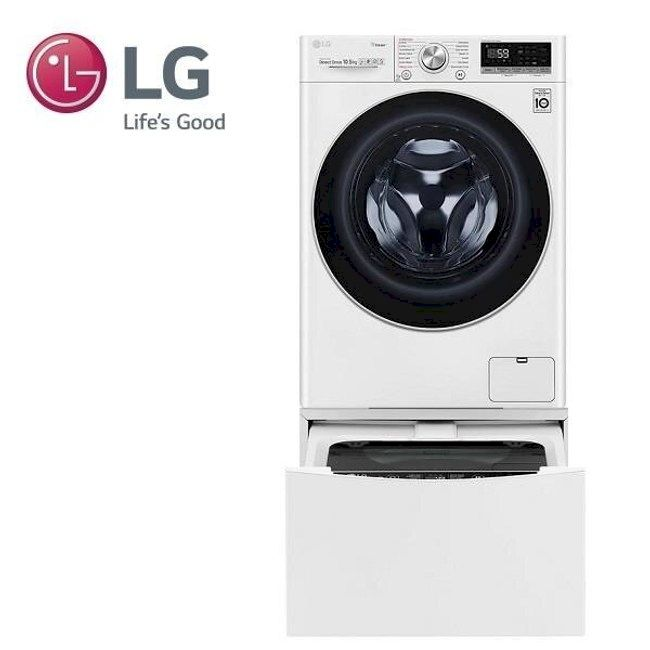 LG 10.5+2公斤 蒸洗脫TWINWash雙能洗洗衣機 (WD-S105VCW+WT-D200HW)